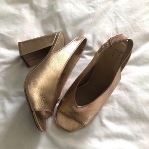 @target Rose Gold Block Heels